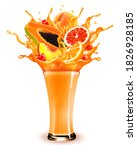 sweet exotic juice splash.... | Shutterstock .eps vector #1826928185