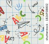 seamless childish background... | Shutterstock .eps vector #1826938802