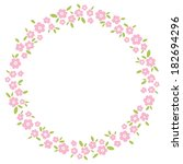 card with floral pattern....   Shutterstock .eps vector #182694296