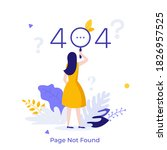 woman looking at website... | Shutterstock .eps vector #1826957525