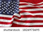 close up of rippled american... | Shutterstock . vector #1826973695