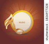 3d shiny golden musical note on ...   Shutterstock .eps vector #1826977328