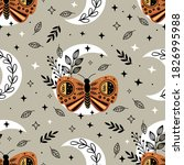 seamless pattern with bohemian...   Shutterstock .eps vector #1826995988