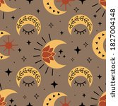 seamless pattern with magic... | Shutterstock .eps vector #1827004148