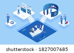 isometric concept of business... | Shutterstock .eps vector #1827007685