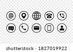 communication icon set in black.... | Shutterstock .eps vector #1827019922