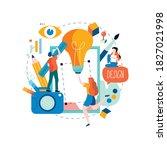 design studio  designing ... | Shutterstock .eps vector #1827021998