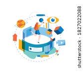 digital content management ...   Shutterstock .eps vector #1827022088