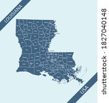 Counties Map Of Louisiana Usa