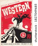 western movies poster template... | Shutterstock .eps vector #1827049685