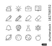 education and school icons set  ... | Shutterstock .eps vector #182708552