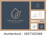 natural drops logotype with... | Shutterstock .eps vector #1827102368