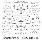 set of vintage elements is on... | Shutterstock .eps vector #1827136748