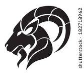 capricorn zodiac sign. isolated ...