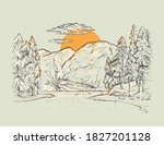braies lake  lago di braies .... | Shutterstock .eps vector #1827201128