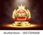winner award. golden laurel...   Shutterstock .eps vector #1827204668