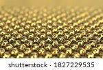 golden lottery ball sorted on... | Shutterstock . vector #1827229535
