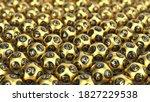 golden lottery ball sorted on... | Shutterstock . vector #1827229538