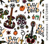 Day Of The Dead. Seamless...