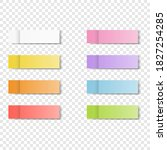 colorfull and white stickers... | Shutterstock .eps vector #1827254285