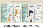 Set Of Kids Height Chart....