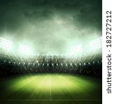 stadium at night | Shutterstock . vector #182727212