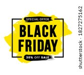 black friday 30 percent off... | Shutterstock .eps vector #1827275162