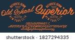 hand drawn typeface set. brush... | Shutterstock .eps vector #1827294335