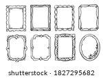 doodle frame. vintage hand...   Shutterstock .eps vector #1827295682