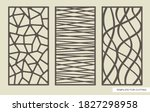 set of rectangular panels with...