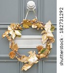close up of christmas wreath   Shutterstock . vector #182731292