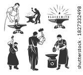 Set Of Vintage Blacksmith...