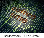 time concept  circuit board... | Shutterstock . vector #182734952