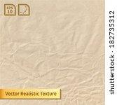 vector crumpled paper sheet.... | Shutterstock .eps vector #182735312