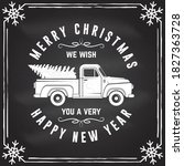 we wish you a very merry... | Shutterstock .eps vector #1827363728