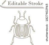colorado beetle icon. editable...