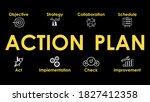 action plan illustration.... | Shutterstock .eps vector #1827412358
