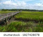 Walkway Across The Marsh At Lo...