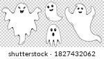 family of ghosts  mom  dad  son ... | Shutterstock .eps vector #1827432062