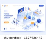 future technology concept...   Shutterstock .eps vector #1827436442