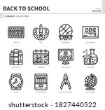 back to school icon set outline ... | Shutterstock .eps vector #1827440522