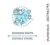 economic rights concept icon.... | Shutterstock .eps vector #1827461795
