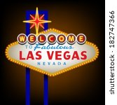 welcome to las vegas sign | Shutterstock .eps vector #182747366