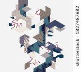 art geometric background of... | Shutterstock .eps vector #1827487682