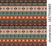seamless vector pattern in boho ... | Shutterstock .eps vector #1827524885