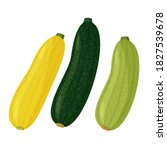 Green And Yellow Squash And...
