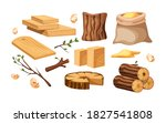 wood industry products  tree... | Shutterstock .eps vector #1827541808