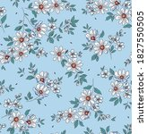 elegant floral pattern in small ... | Shutterstock .eps vector #1827550505