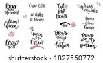 set of handwriting lettering... | Shutterstock .eps vector #1827550772
