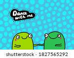 dance with me hand drawn vector ... | Shutterstock .eps vector #1827565292